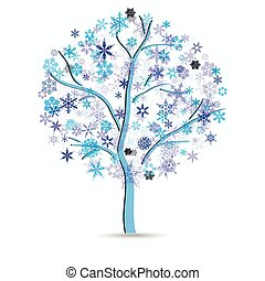 Tree with snowflakes
