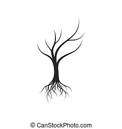 Tree without leaf  icon template vector