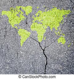 Tree World Map eco concept  vector