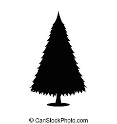 Tree XMas icon. Simple style. Vector Illustration for Christmas day