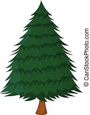 Tree XMas Isolated icon. Cartoon style. Vector Illustration for Christmas day