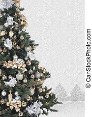 treee, 飾られる, クリスマス