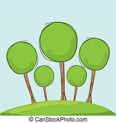 trees design over sky background vector illustration