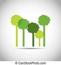 trees forest ecology icon