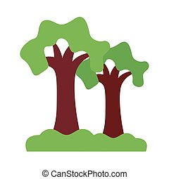 trees forest flat style icon