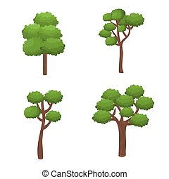 trees forest nature icon