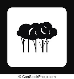 Trees icon in simple style