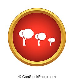 Trees icon, simple style