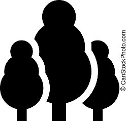 Trees icon vector