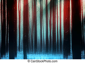 Trees In a Winter Magic Forest