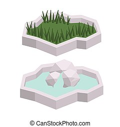 trees isometric isolated icon design