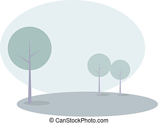 Trees landscape vector illustration