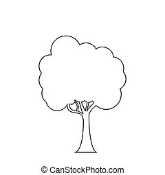 Trees line icon on the white background.