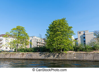 Trees on the banks of River Spree