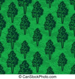 Trees Seamless - Seamless Pattern, Forest, Trees Silhouettes...
