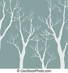 Trees with no leaves. Continuous Pattern. Partly Seamless.