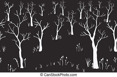 Trees with no leaves. Continuous Pattern
