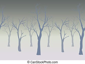 Trees with no leaves