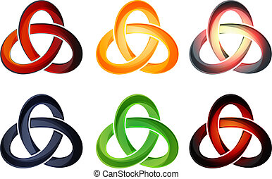 Trefoil Knot - Illustration - This illustration is AI10 EPS...