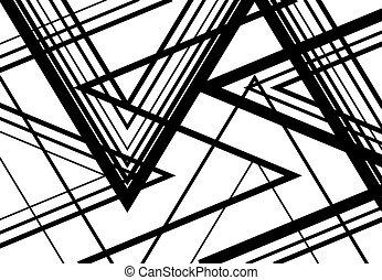 treillis, fond, géométrique, incliné, zigzag, modèle, résumé...