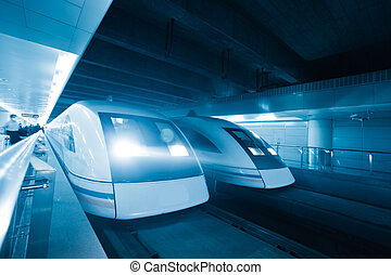 trein, beweging onduidelijke plek