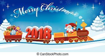 trein, kerstmis, 2018