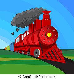 trein, locomotief