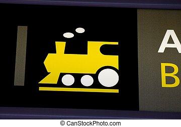 trein, meldingsbord