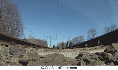 trein, onder, aanzicht