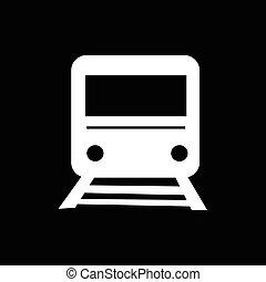 trein, ontwerp, illustratie, pictogram