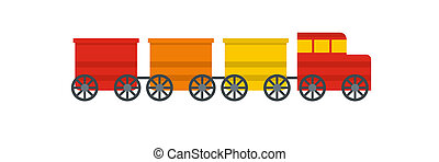 trein, pictogram, elektrisch, style., plat