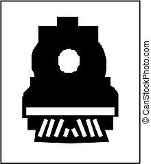 trein, silhouette