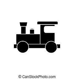 trein, silhouette, illustratie