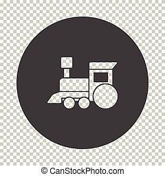 trein, speelbal, pictogram