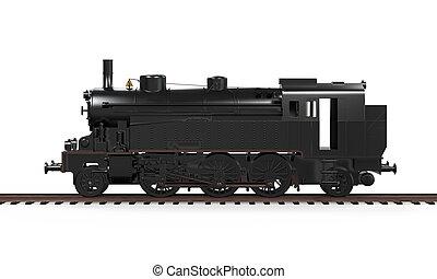 trein, stoom, locomotief