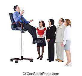 treinador, conceito, negócio, ou, treinador, líder