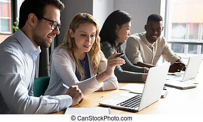 treinador, diverso, treinamento, aprendizagem, pessoal, software, amigável, incorporado, mentor