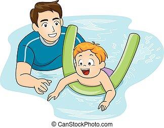 treinador, natação