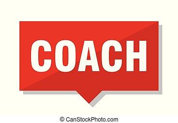 treinador, tag, vermelho