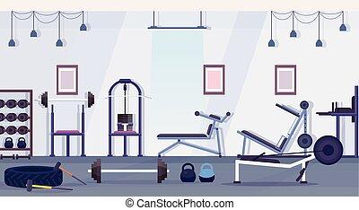 treinamento, conceito, estilo vida, crossfit, aparelho, não...