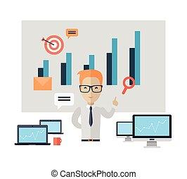 treinamento, conceito, negócio