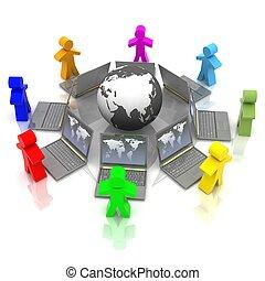 treinamento, conceito, online