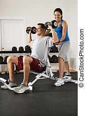 treinamento, condicão física