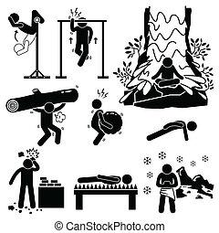 treinamento, hermit, mental, físico