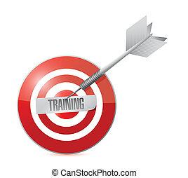 treinamento, ligado, a, target., conceito