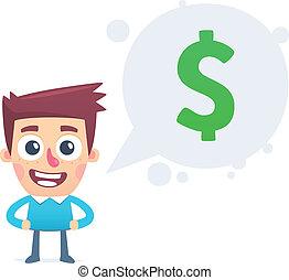 treinamento, ligado, fazendo dinheiro