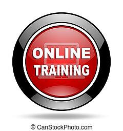 treinamento, online, ícone
