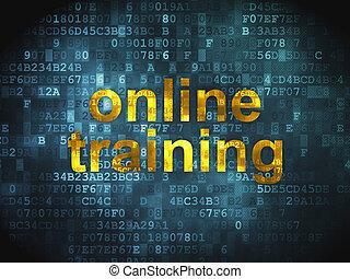 treinamento, online, fundo, digital, educação, concept: