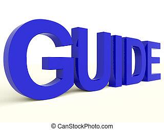treinamento, palavra, símbolo, ou, guia, orientação