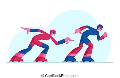 treinamento, patinadores, estação, apartamento, olímpico,...